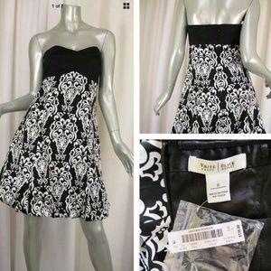 NWT WHITE HOUSE BLACK MARKET DAMASK DRESS 8